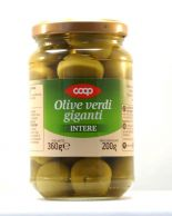 COOP Italy Olivy zelené gigant 360 g