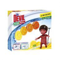 Dr. DEVIL WC PushPull gel Lemon 2x20 g